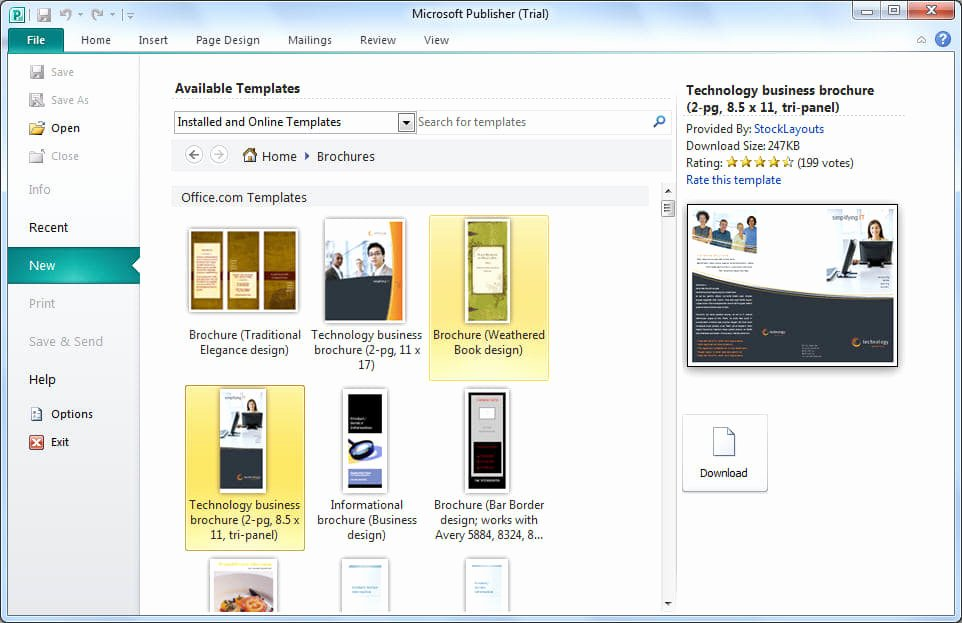 Microsoft Publisher Website Templates Free Download