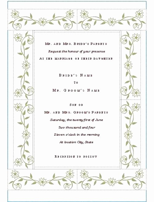 Microsoft Publisher Wedding Invitations – First to