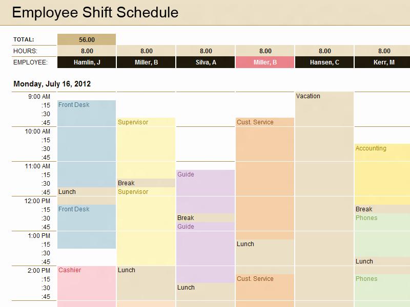 Microsoft Schedule Template