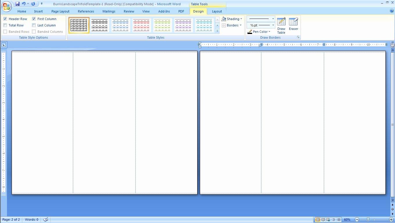 Microsoft Tri Fold Brochure Template Free Image