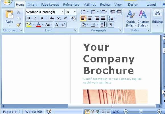 Microsoft Word Brochure Template