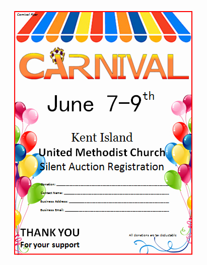 Microsoft Word Carnival Flyer Template