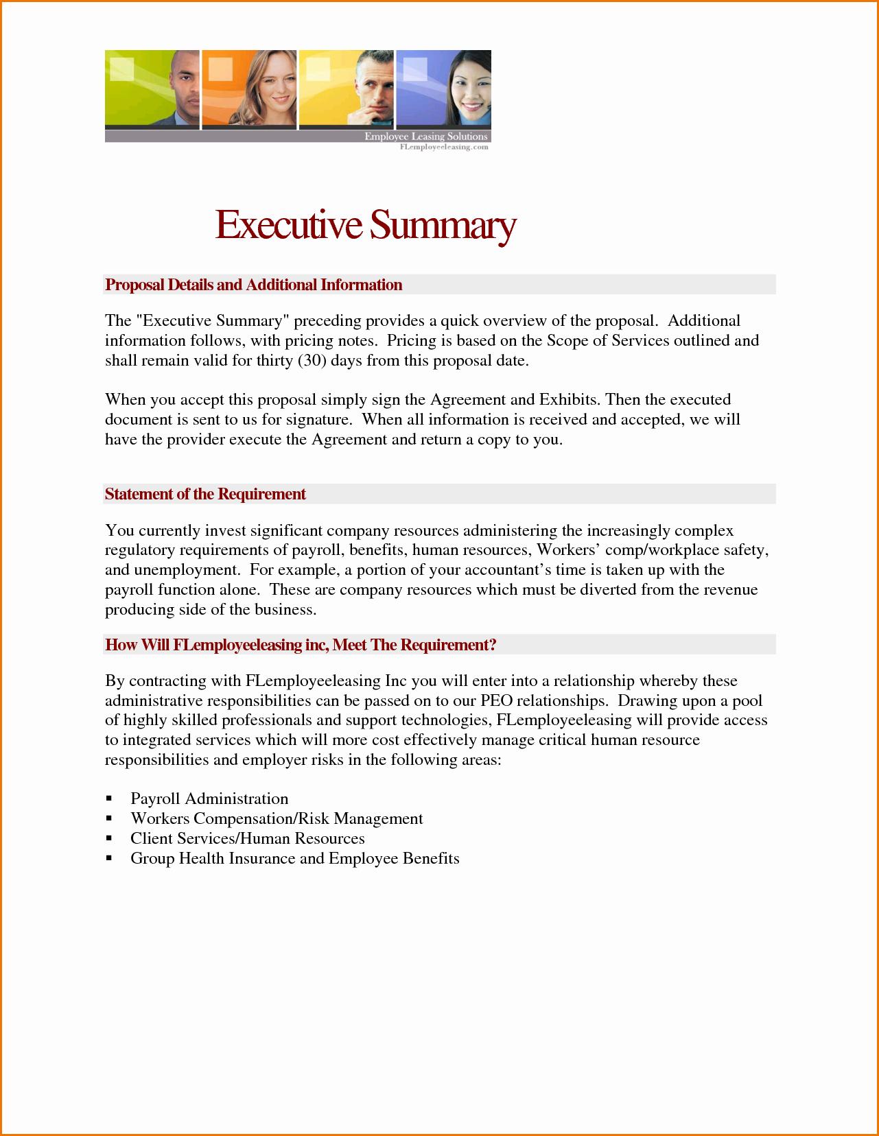 Microsoft Word Executive Summary Template
