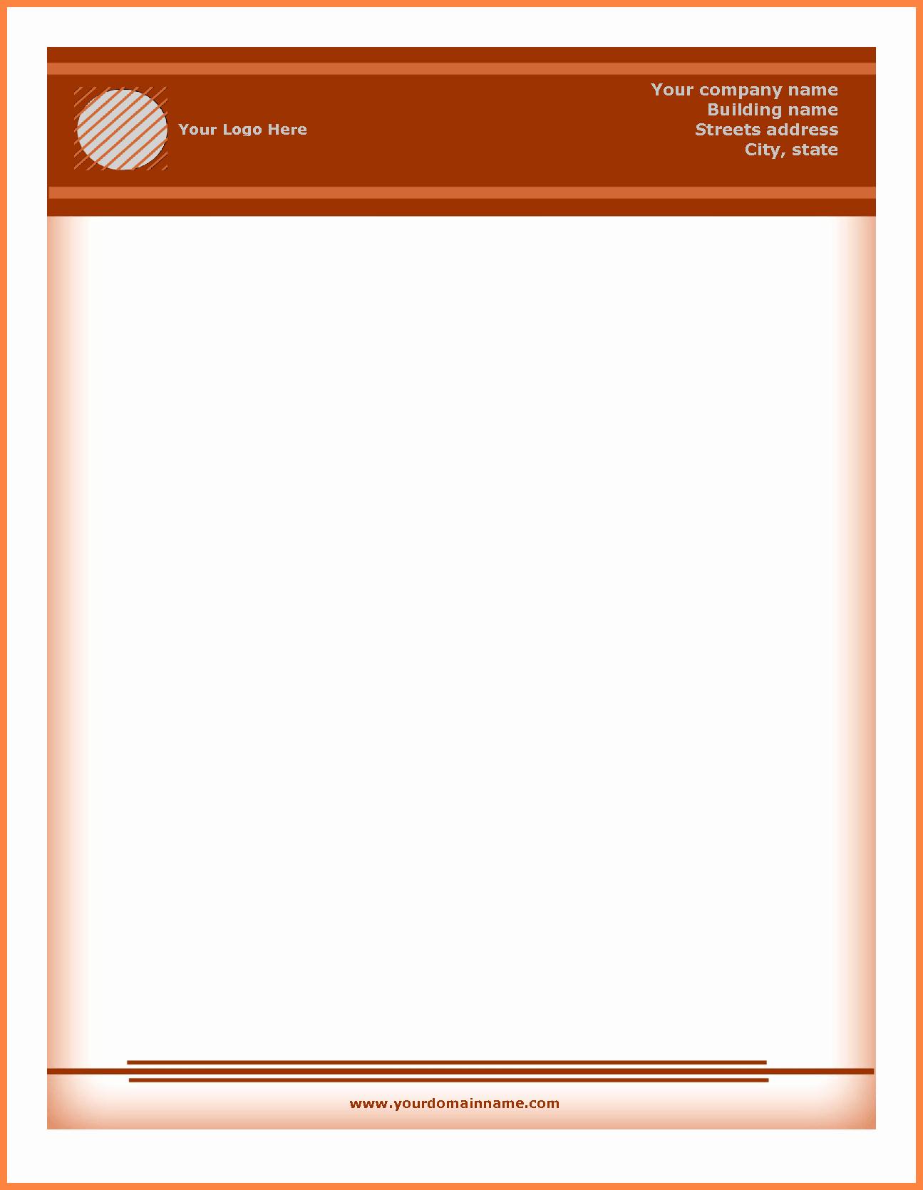 Microsoft Word Letterhead Template Free