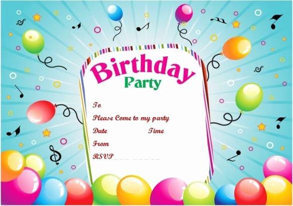 Microsoft Word Paper Birthday Party Invitation