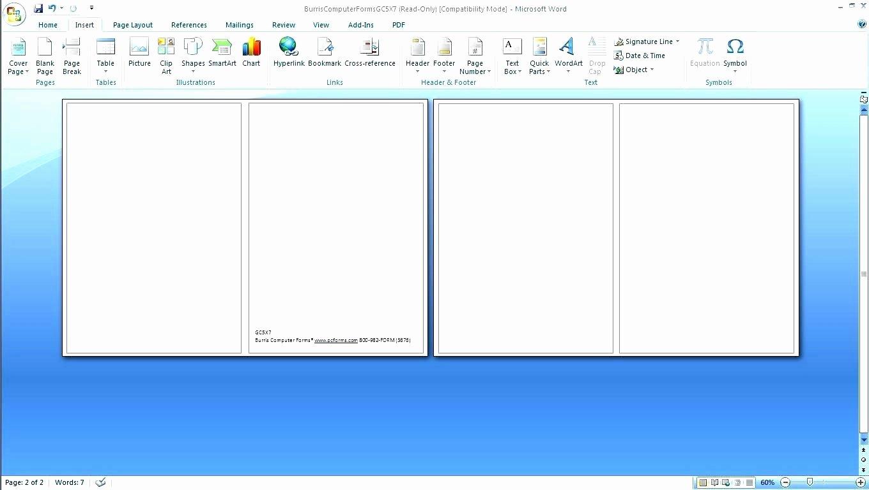 Microsoft Word Recipe Template