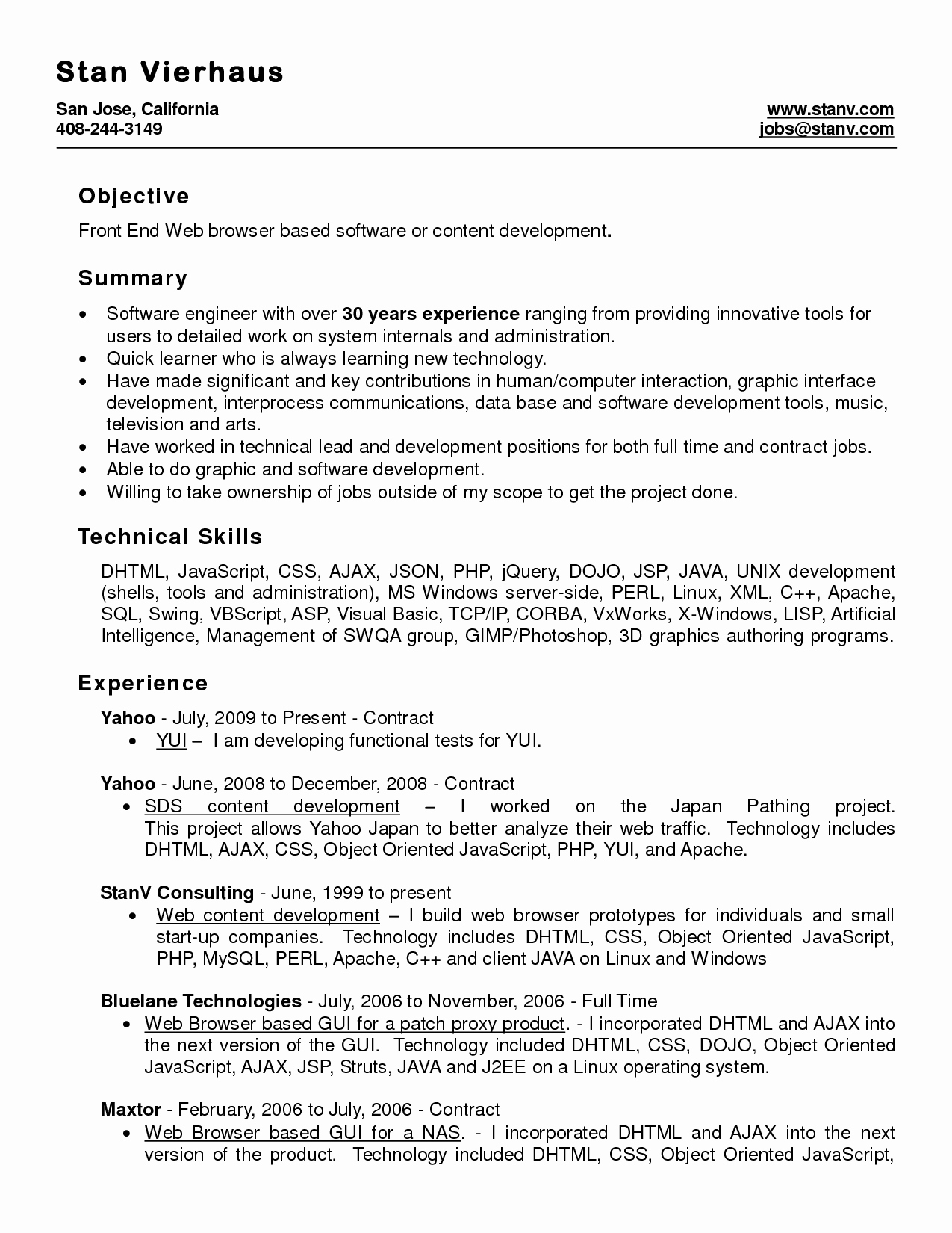 Microsoft Word Resume Samples Essay Ms format