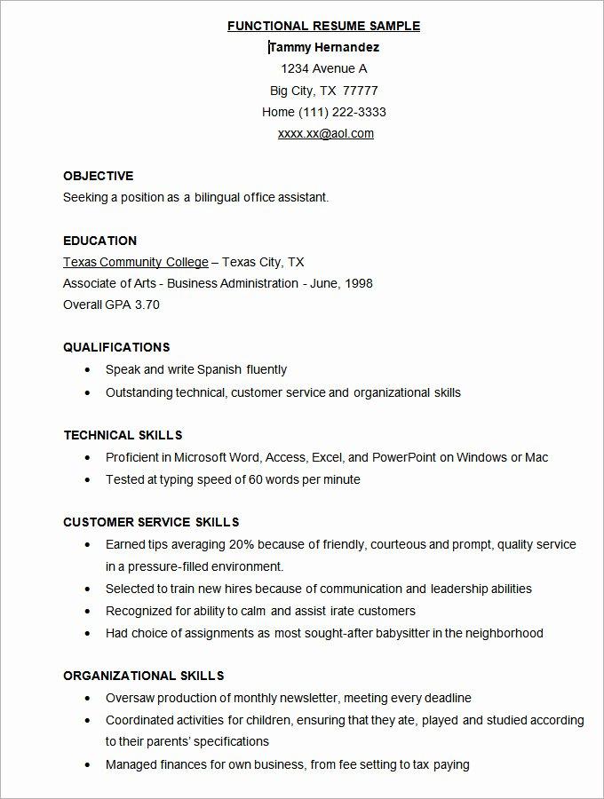 Microsoft Word Resume Template 49 Free Samples