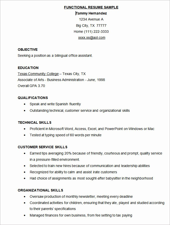 Microsoft Word Resume Template 49 Free Samples