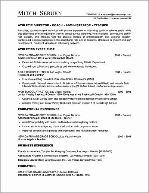 Microsoft Word Resume Template Free