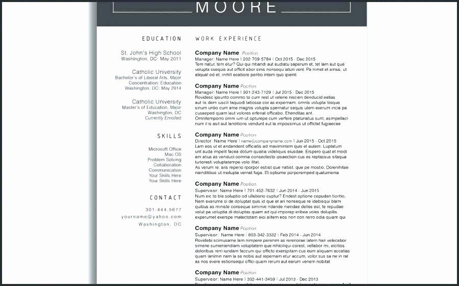 Microsoft Word Resume Templates 2015