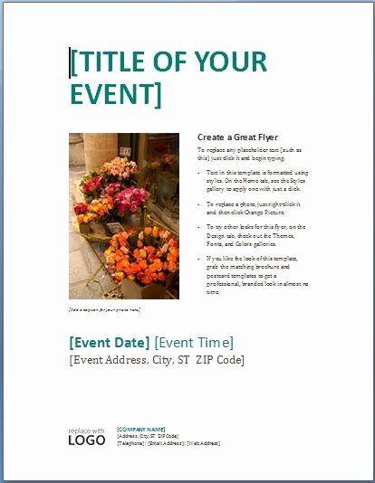Microsoft Word Template Flyer Invitation Template