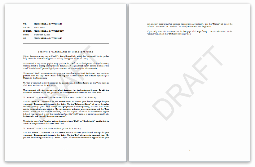 Microsoft Word Templates Free Memo Template