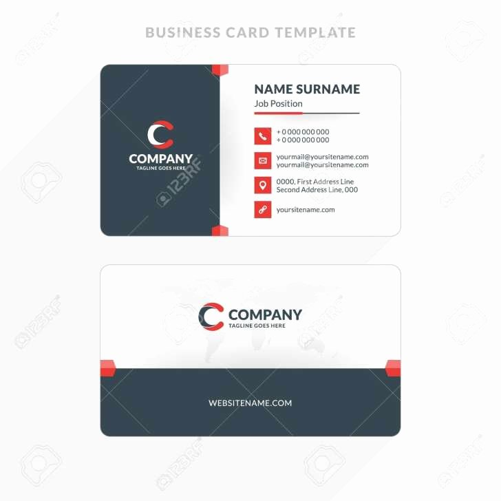 Microsoft Word Twosided Business Card Template Double
