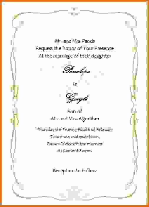 Microsoft Word Wedding Invitation Templatesreference