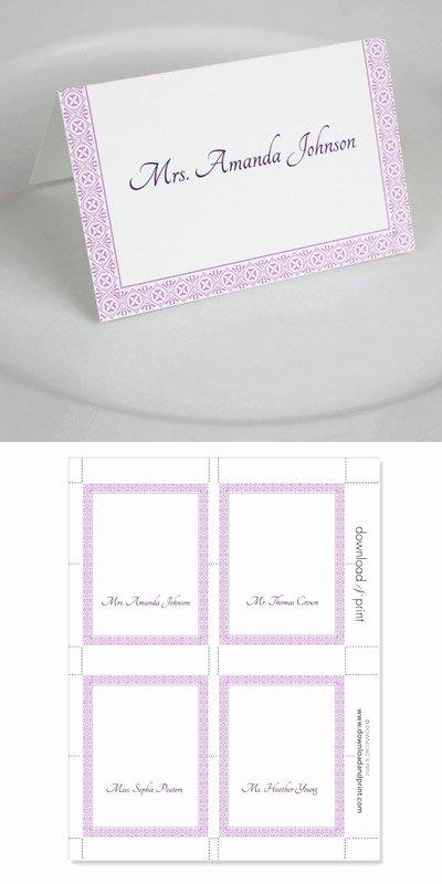 Microsoft Word Wedding Place Card Templates