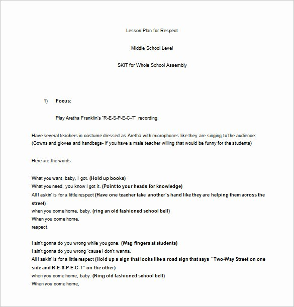 Middle School Lesson Plan Template 8 Free Pdf Word