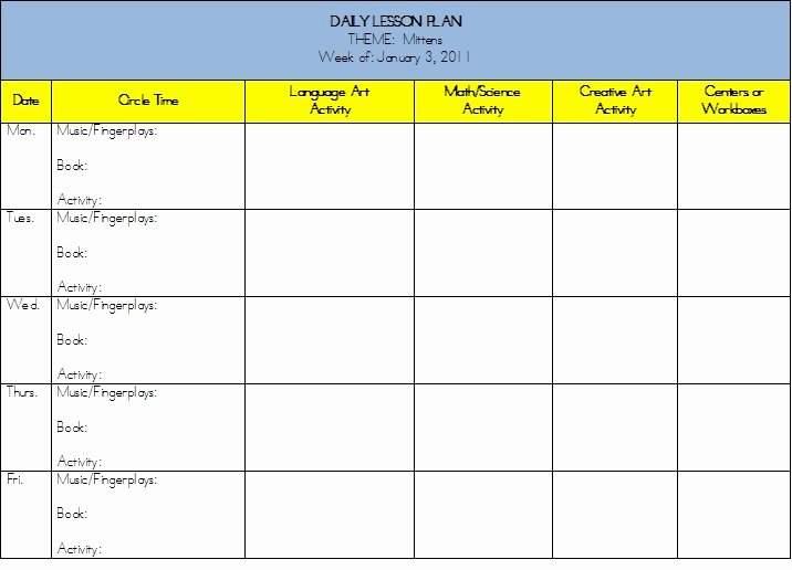 Middle School Lesson Plans Template Eat Write Teach the