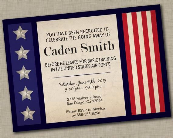 Military Going Away Party Invitation by Justaddpaperdesigns