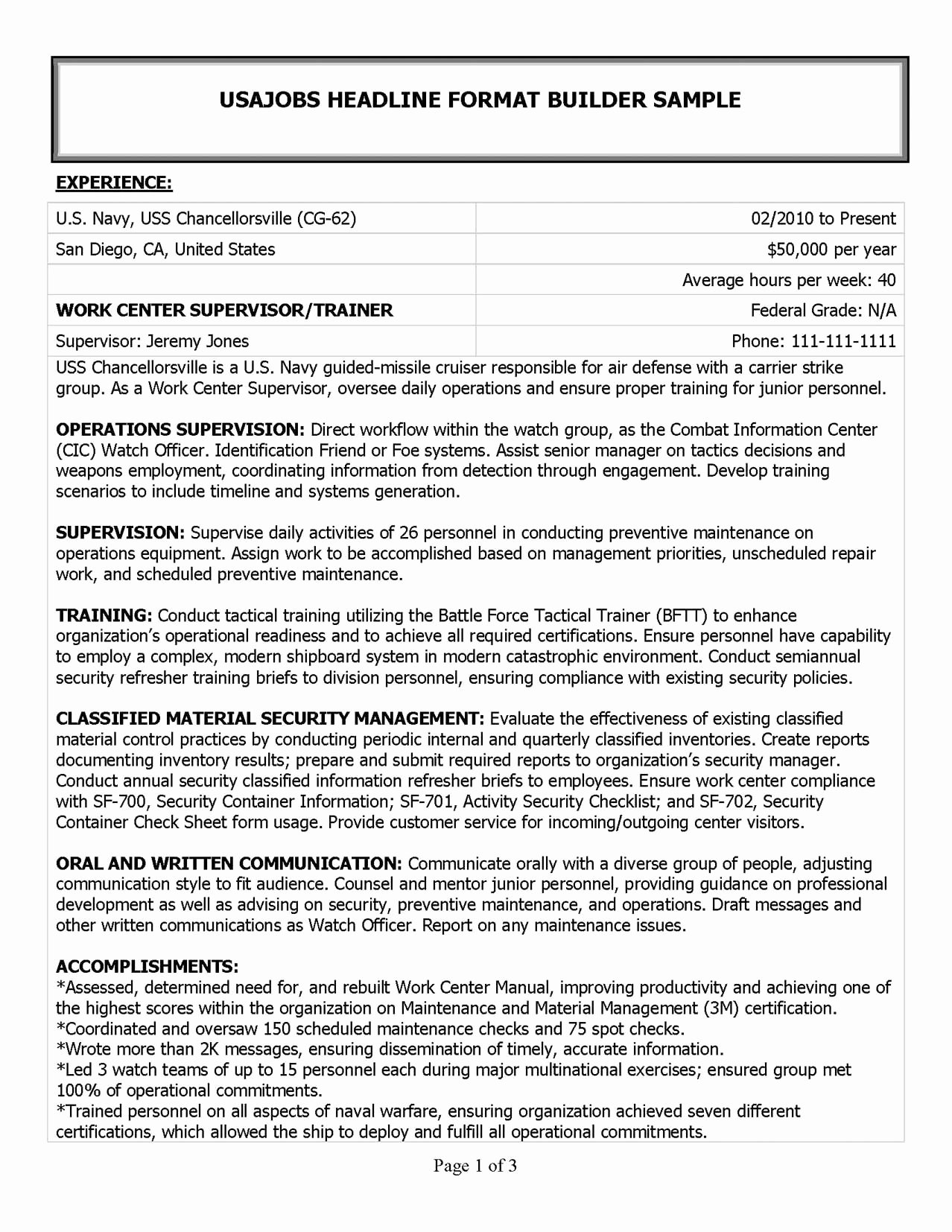 Military Resume Samples & Examples