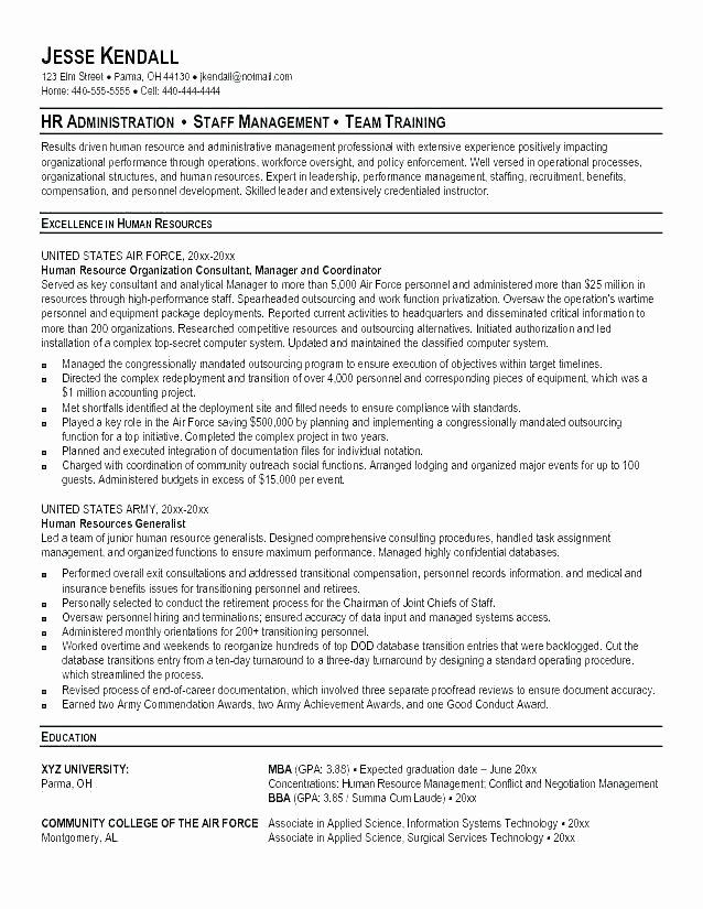 Military Resume Transition to Civilian Resume