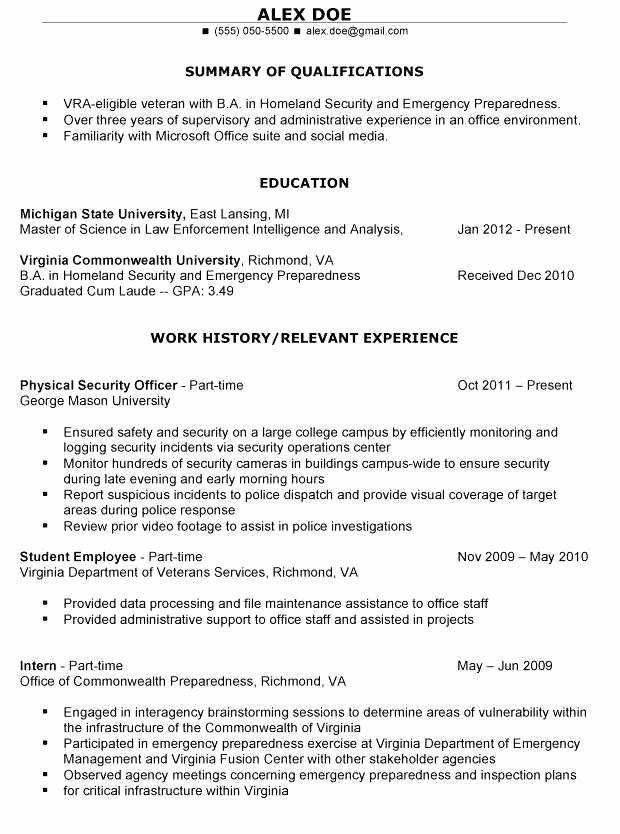 Military to Civilian Resume Builder Awesome Military