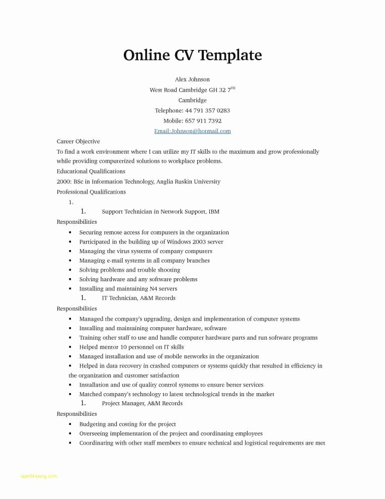 Military to Civilian Resume Inspirational Resume Template