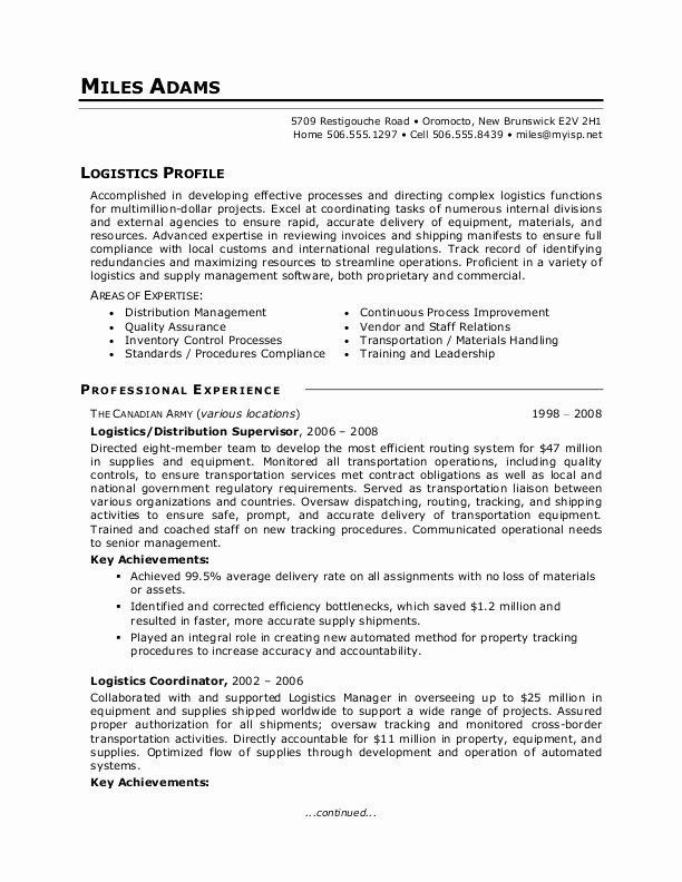 Military to Civilian Resume Templates Best Resume Gallery