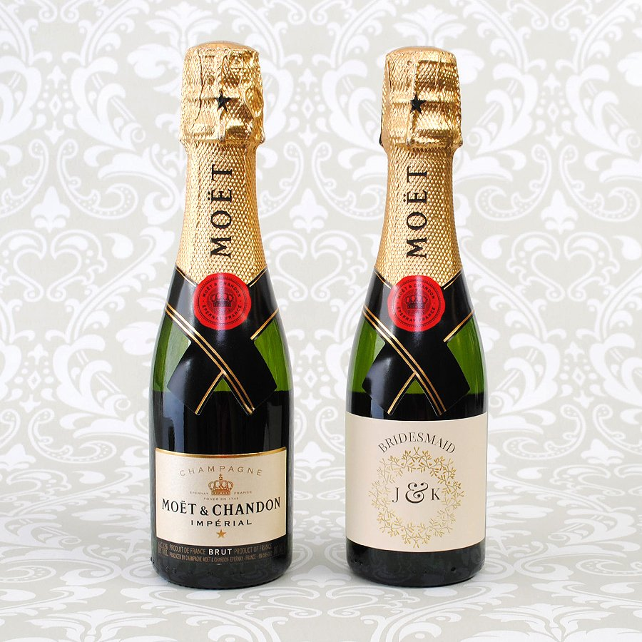 Mini Champagne Bottle Labels Template