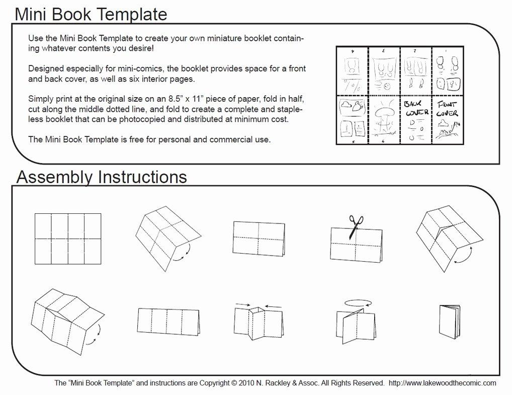 Mini ic Book Template and Tutorial