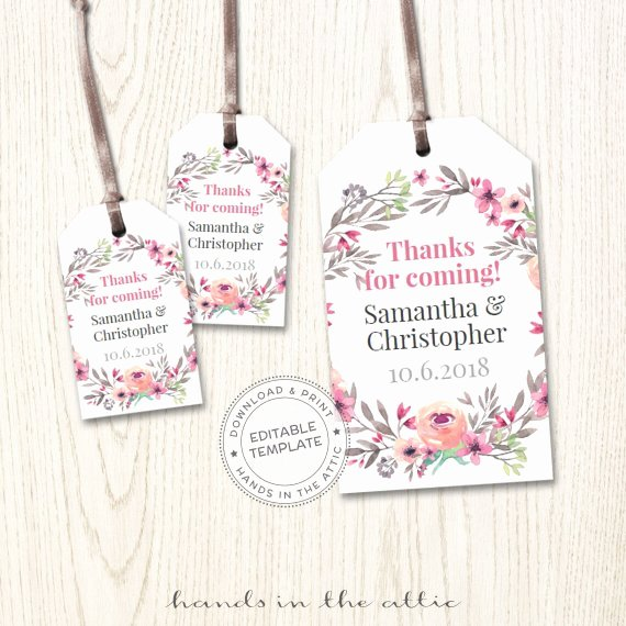 Mini Wedding Tags Personalized Hang Tags Wedding Favor