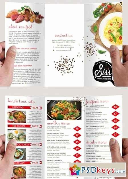 Minimal Menu Psd Tri Fold Psd Brochure Template Free