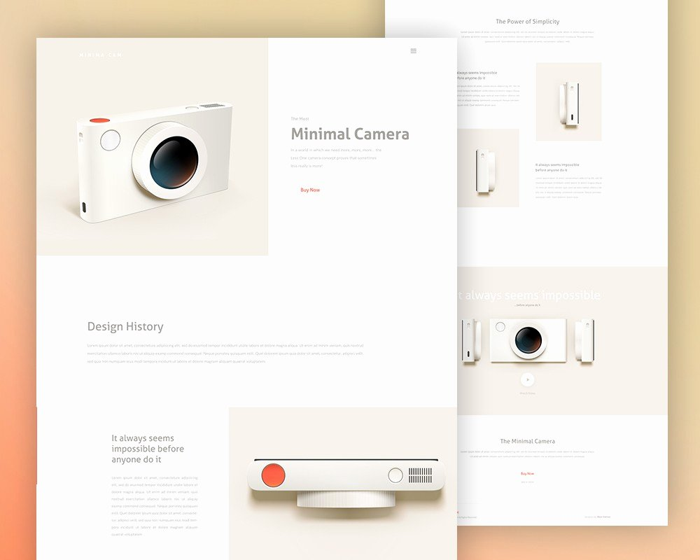 Minimalist Product Landing Page Template Psd Download