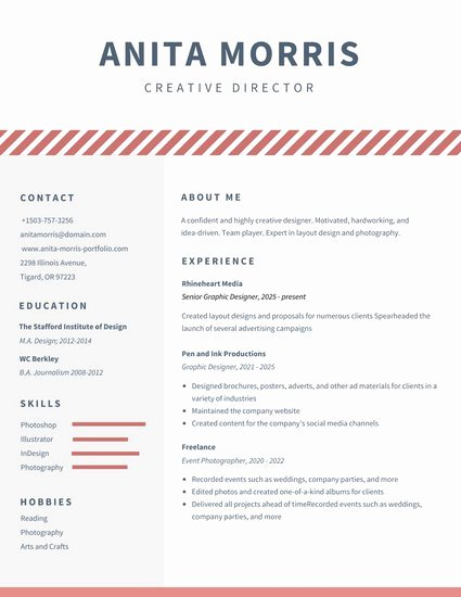 Minimalist Videographer Resume Templates by Canva