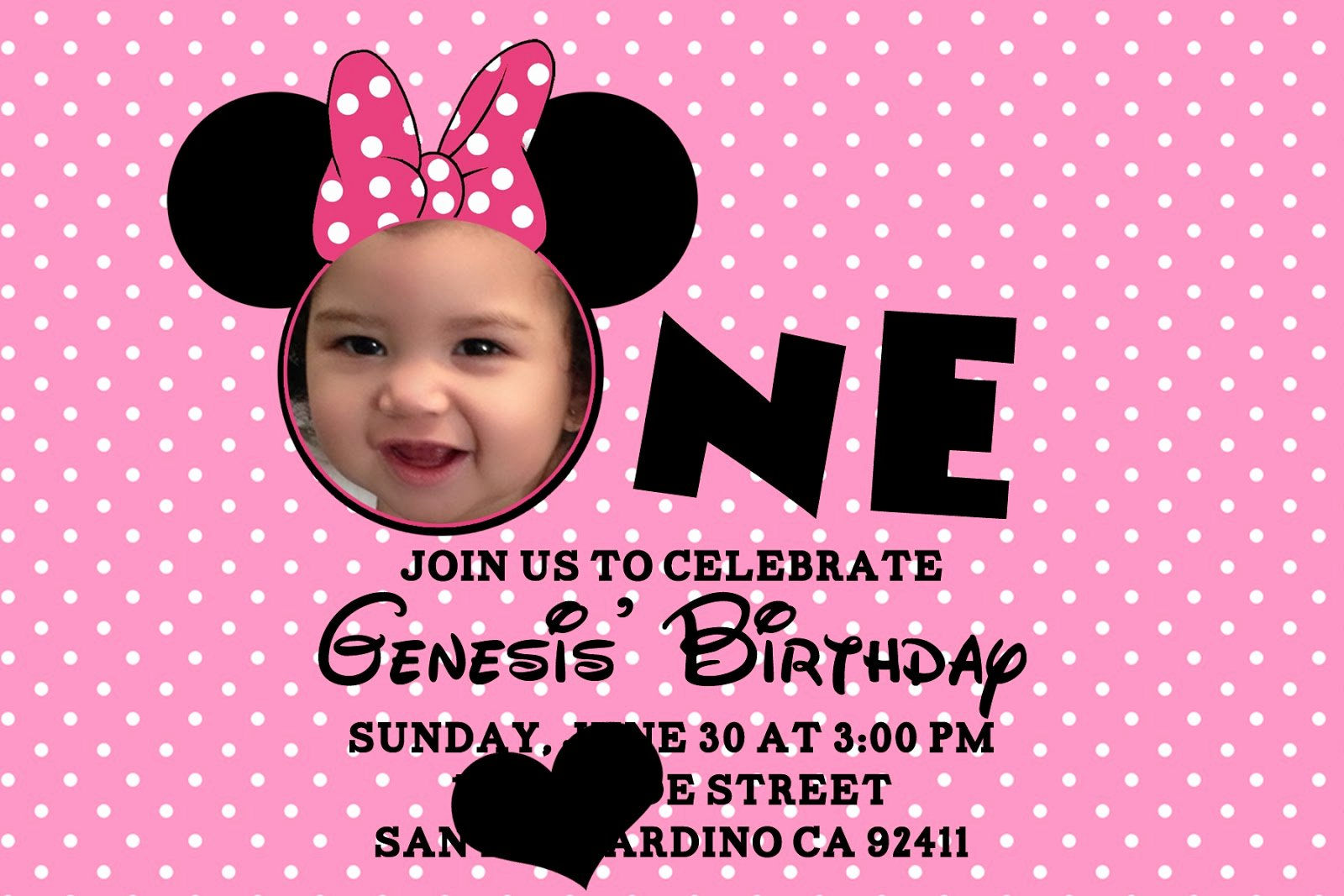 Minnie Mouse Birthday Invitations Personalized – Bagvania