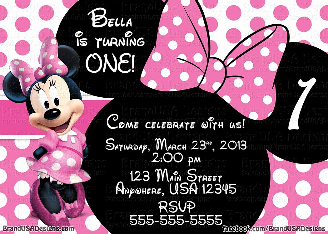 Minnie Mouse Birthday Templates Free