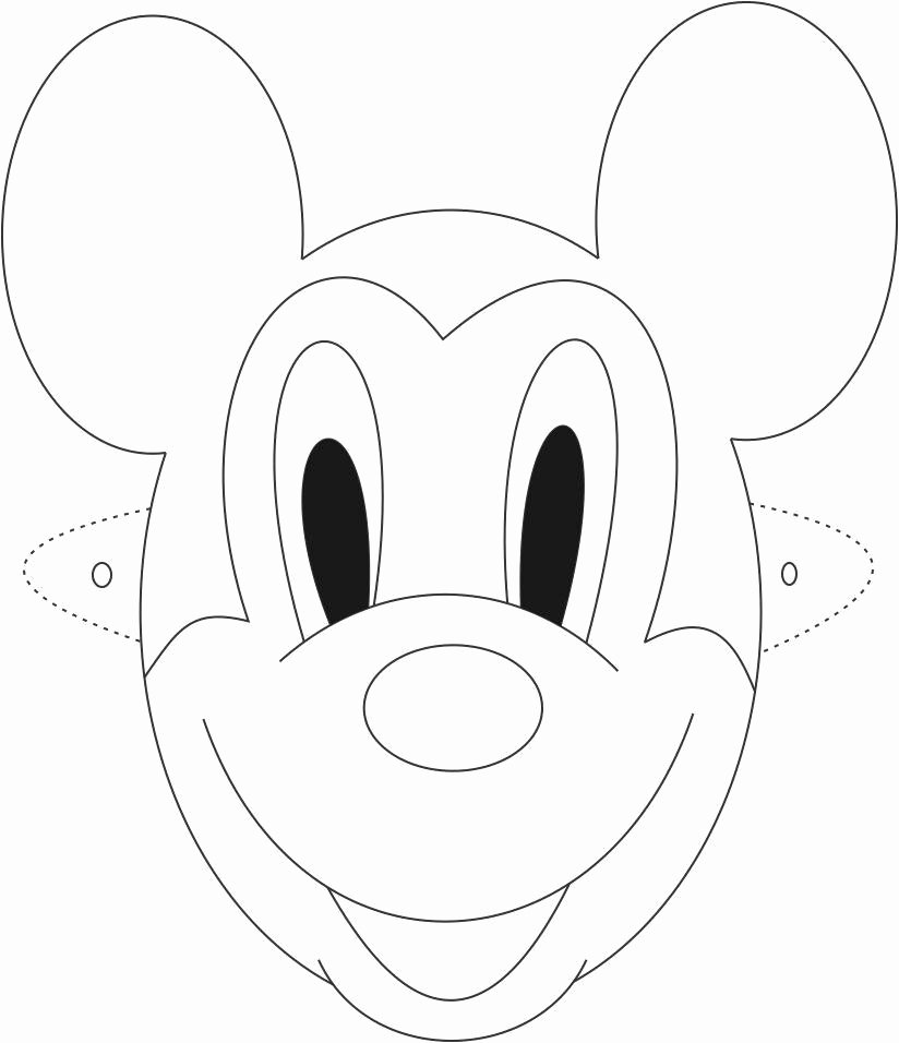Minnie Mouse Face Printable thekindproject