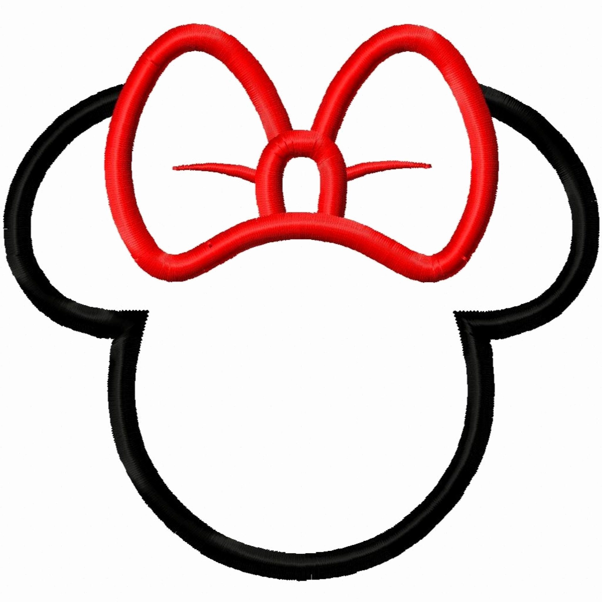 Minnie Mouse Head Clip Art