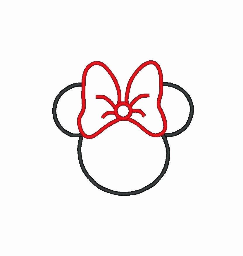 Minnie Mouse Stencil Printable