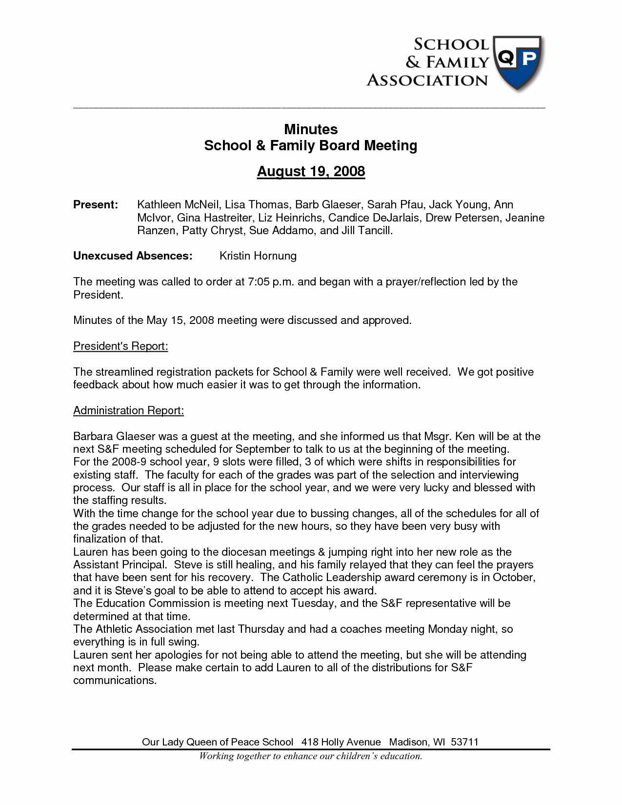 Minutes Template Doc