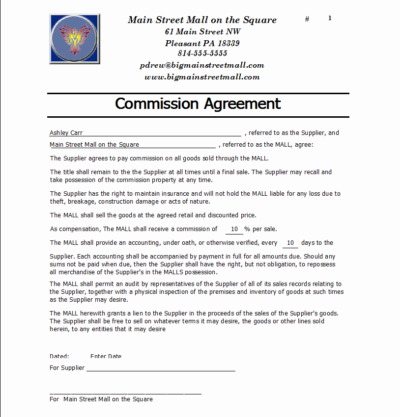 Mission Agreement Templates