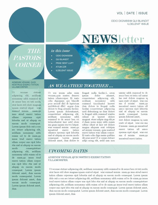 Mission Update Newsletter Template Template