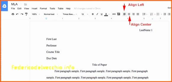 Mla format Google Docs Template Letterhead Template for