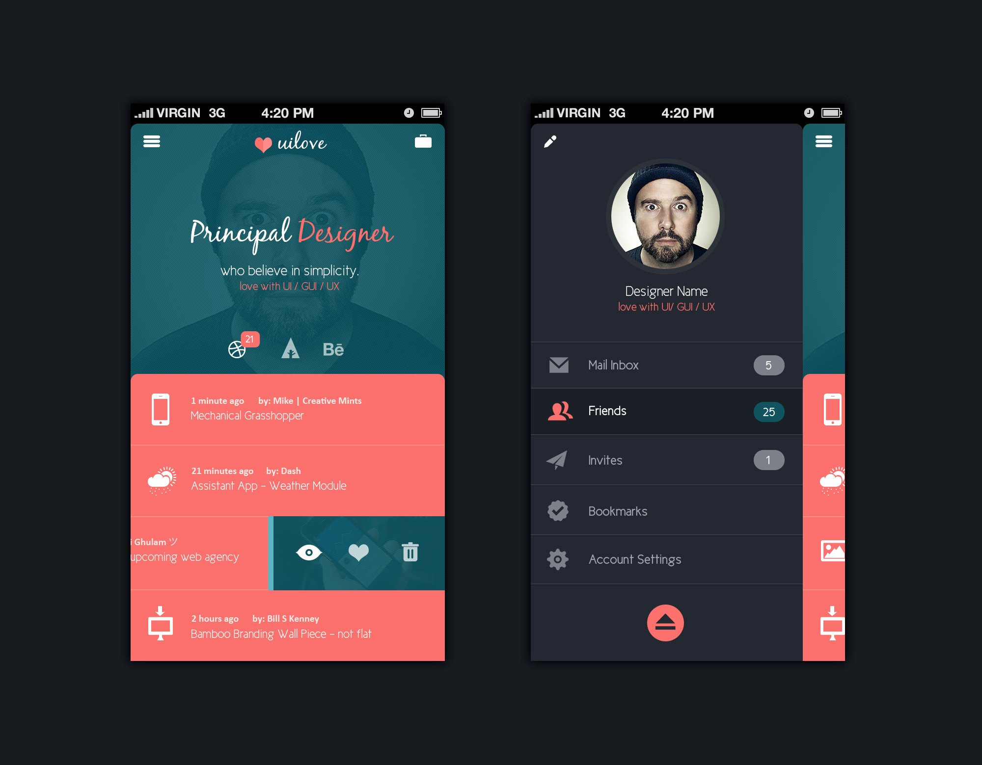 Mobile App Design Template Psd Free Graphics