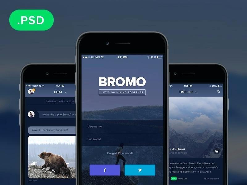 Mobile App Design Templates Website Template Free