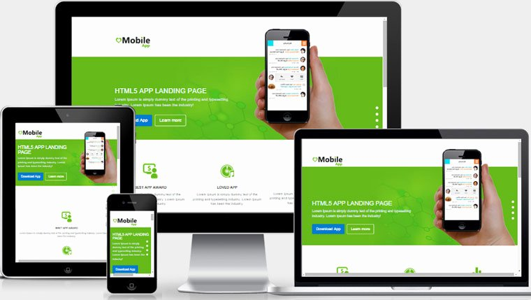 Mobile App Landing Page Free Download