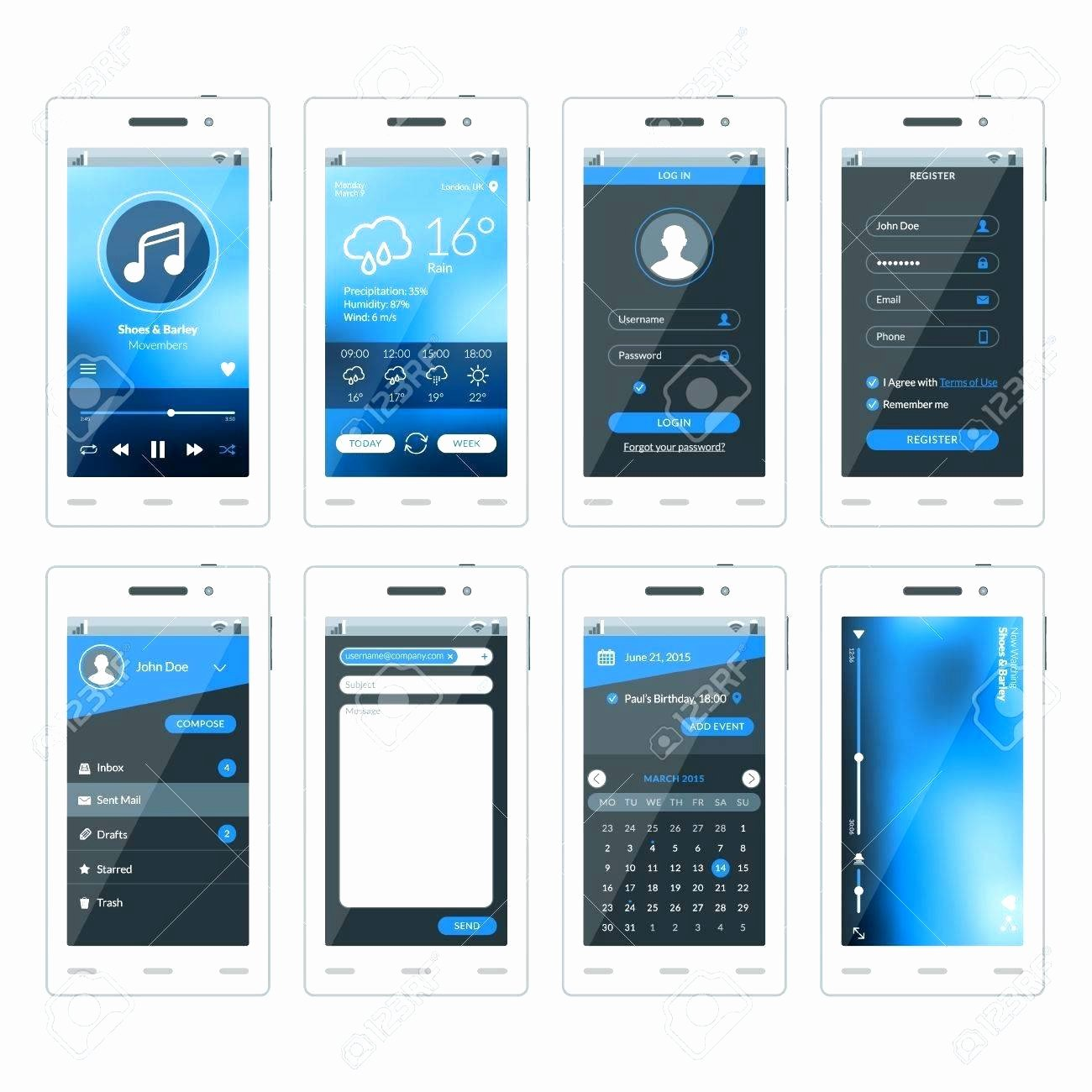 Mobile Apps Design Template