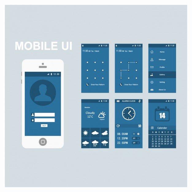 Mobile Screen Templates Vector