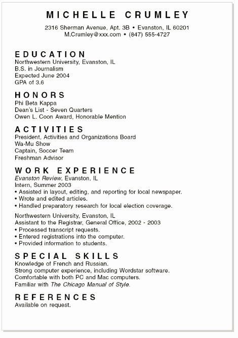 Mock Resume for Students Best Resume Gallery