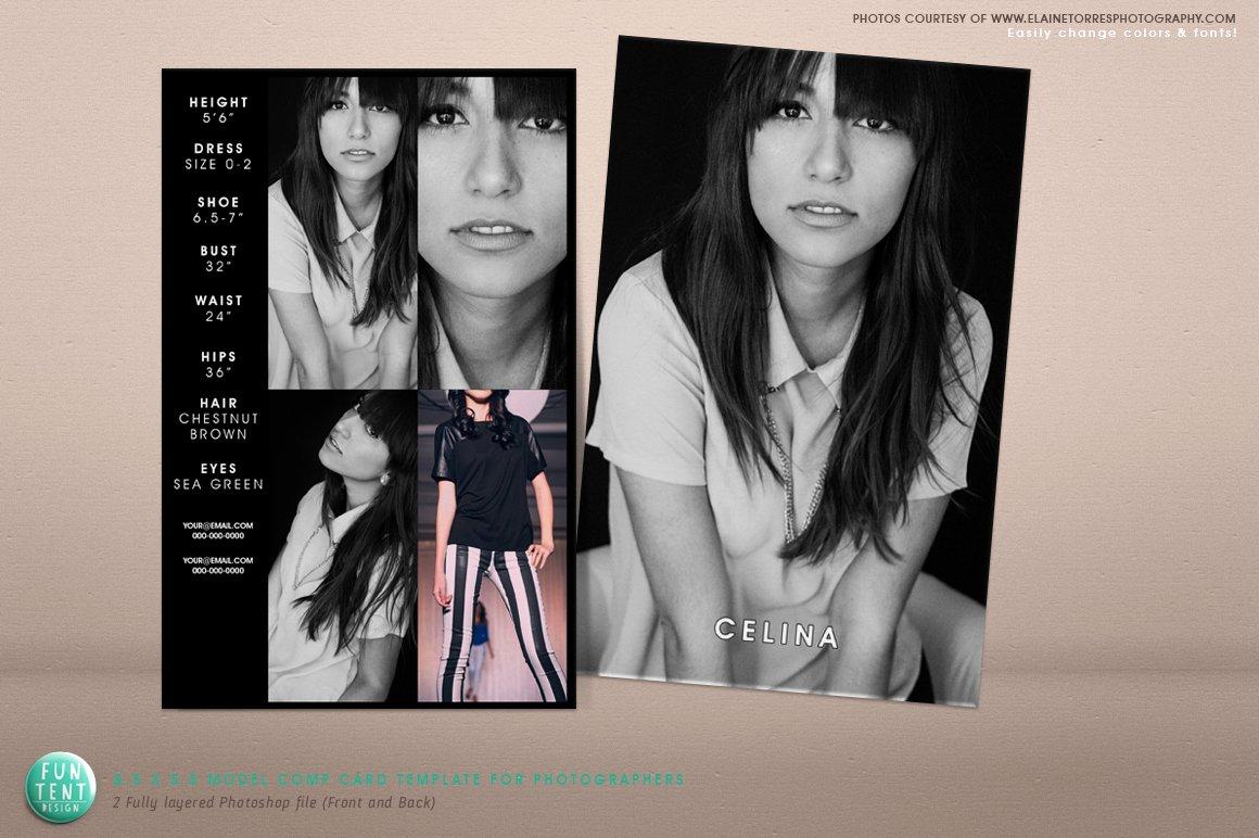 Model P Card 8 5x5 5 Fashion Presentation Templates